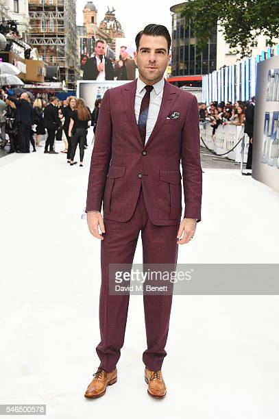 """Zachary Quinto attends the UK premiere of """"Star Trek Beyond"""" on July 12, 2016 in London, United Kingdom."""