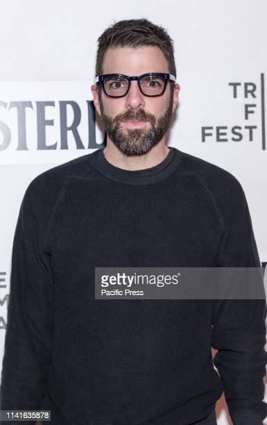 Zachary Quinto attends Yesterday Closing Night Gala Film during 2019 Tribeca Film Festival at The Stella Artois Theatre Manhattan