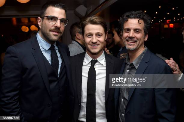 Zachary Quinto Ben McKenzie and Michael Katcher attend the 2017 CAA Upfronts Celebration Party at La Sirena on May 15 2017 in New York City