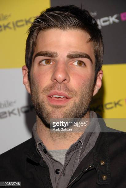 Zachary Quinto during T-Mobile SIDEKICK iD Launch at T-Mobile Sidekick Lot in Hollywood, California, United States.