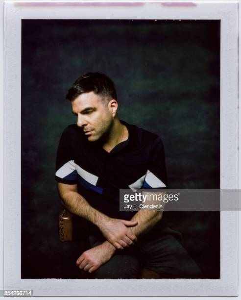 Zachary Quinto from the film 'Who We are Now' is photographed on polaroid film at the LA Times HQ at the 42nd Toronto International Film Festival in...