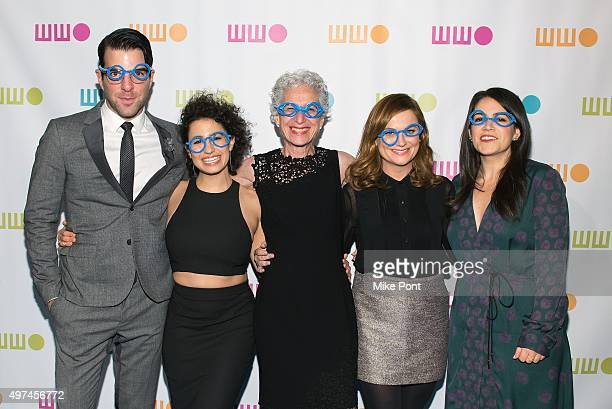 Zachary Quinto Ilana Glazer Dr Jane Aronson Amy Poehler and Abbi Jacobson attend the 2015 Worldwide Orphan Gala at Cipriani Wall Street on November...