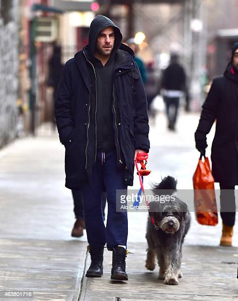 Zachary Quinto is seen in the East Village on February 18 2015 in New York City
