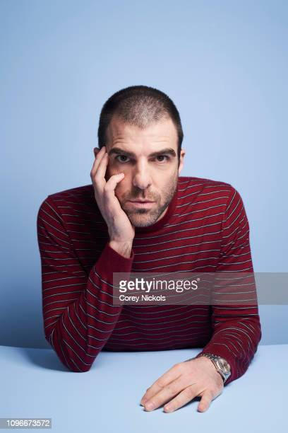 Zachary Quinto of AMC's NOS4A2 poses for a portrait during the 2019 Winter TCA at The Langham Huntington Pasadena on February 9 2019 in Pasadena...