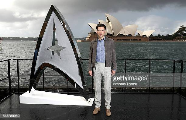 Zachary Quinto poses during a photo call for Star Trek Beyond on July 7 2016 in Sydney Australia