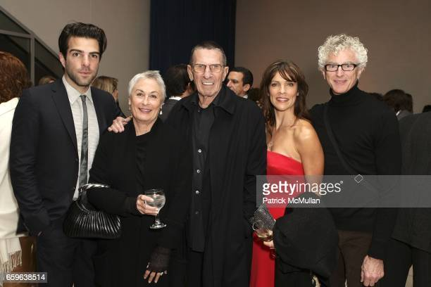 Zachary Quinto Susan Bay Nimoy Leonard Nimoy guest and James Elane attend GALA IN THE GARDEN at HAMMER MUSEUM on October 10 2009 in Westwood...