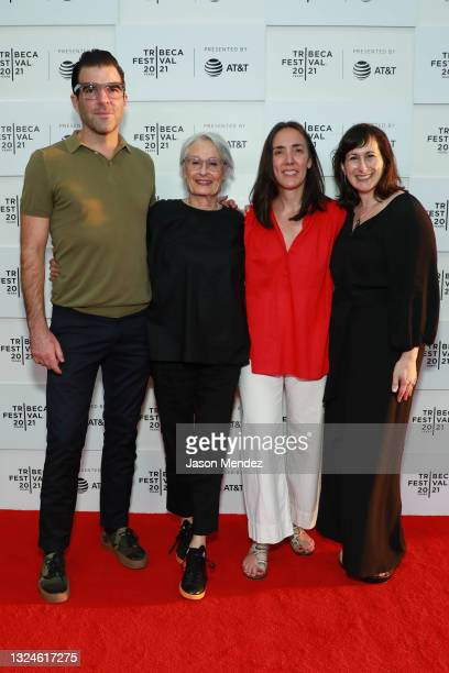 """Zachary Quinto, Susan Bay Nimoy, Megan Mylan and Robin Hessman attend """"Simple As Water"""" Premiere at Tribeca Festival 2021 at Pier 76 on June 20, 2021..."""