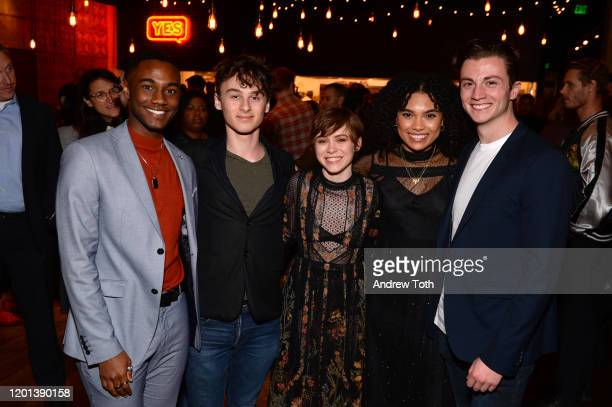 Zachary S Williams Wyatt Oleff Sophia Lillis Sofia Bryant and Richard Ellis attend the after party for the premiere of United Artists Gretel Hansel...
