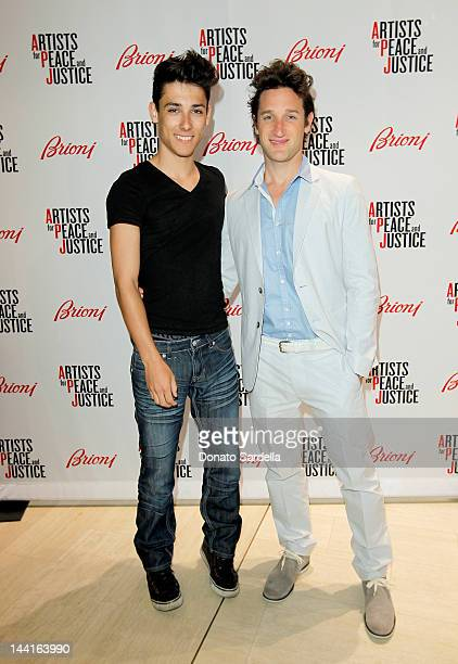 Zachary Smith and producer Canaan Rubin attend Brioni Rodeo Drive boutique opening at Brioni Rodeo Drive Boutique on May 10 2012 in Beverly Hills...