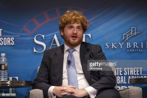 Zachary Squire cofounder and chief investment officer of Tekmerion Capital Management speaks at the Skybridge Alternatives conference in Las Vegas...