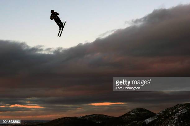 Zachary Surdell of the United States competes in the Men's Aerials qualifying during the 2018 FIS Freestyle Ski World Cup at Deer Valley Resort on...