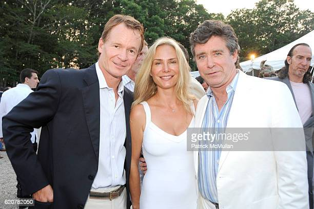 Zack Bacon Valesca GuerrandHermes and Jay McInerney attend The 15th Annual WATERMILL Summer Benefit at The Watermill Center on July 26 2008 in...