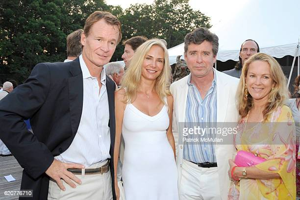 Zack Bacon Valesca GuerrandHermes Jay McInerney and Anne Hearst attend The 15th Annual WATERMILL Summer Benefit at The Watermill Center on July 26...