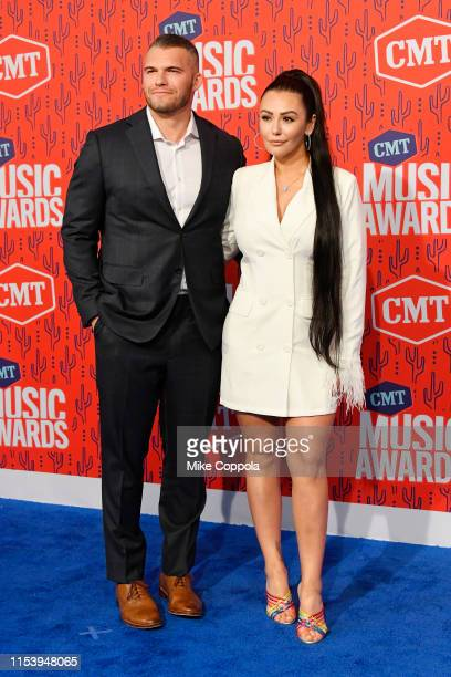 Zack Clayton Carpinello and JWoww attend the 2019 CMT Music Award at Bridgestone Arena on June 05, 2019 in Nashville, Tennessee.