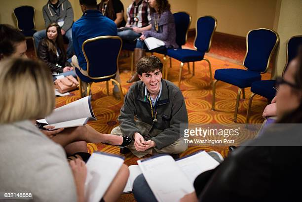 Zack Crilley a junior from Chevy Chase MD is pictured during the summit The Envision Impact Series Presidential Inauguration Leadership Summit was...