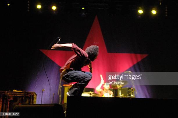 Zack de la Rocha and Brad Wilk of Rage Against The Machine
