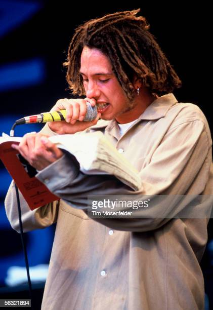 Zack De La Rocha and Rage Against the Machine performs as a part of at Lollapalooza 1993 at Shoreline Amphitheatre on June 23 1993 in Mountain View...