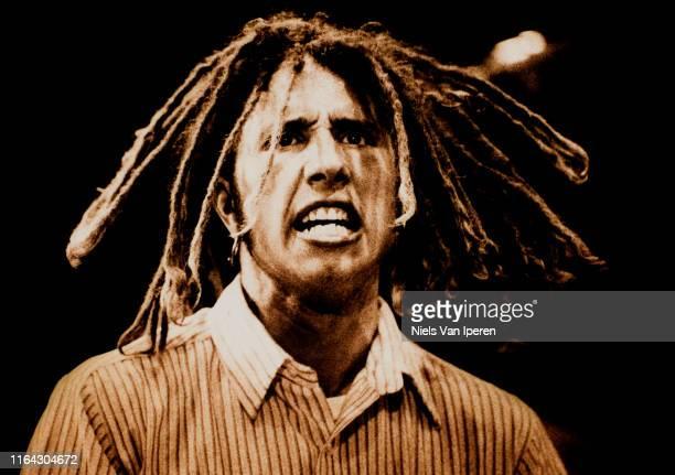 Zack de la Rocha Rage Against The Machine performing on stage Lowlands Biddinghuizen Netherlands 29th August 1993