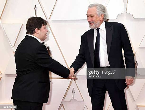 Zack Gottsagen and Robert De Niro attend the 92nd Annual Academy Awards at Hollywood and Highland on February 09 2020 in Hollywood California