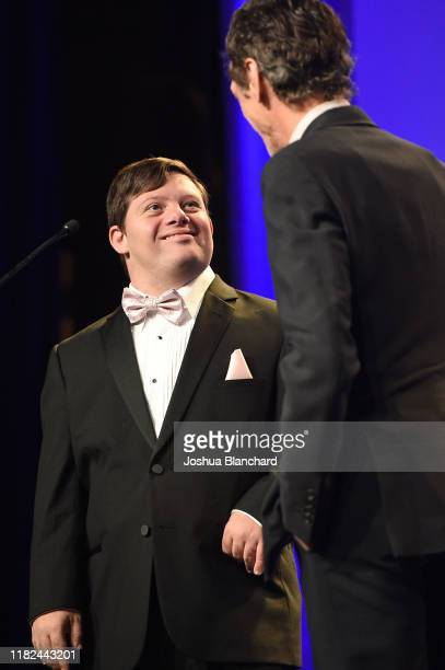 Zack Gottsagen attends the 40th Annual Media Access Awards In Partnership With Easterseals at The Beverly Hilton Hotel on November 14 2019 in Beverly...
