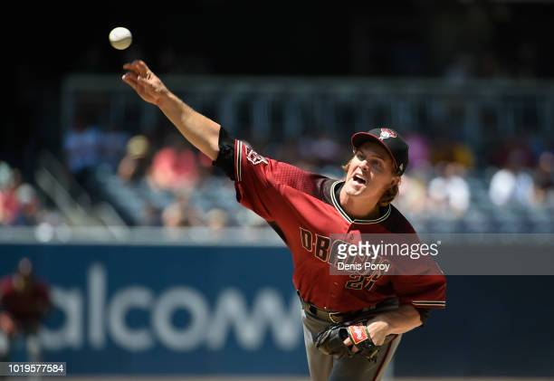 Arizona Diamondbacks players highfive after beating the San Diego Padres 43 in a baseball game at PETCO Park on August 19 2018 in San Diego California