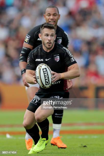 Zack Holmes of Toulouse in action during the French Top 14 match between Stade Toulousain and Castres at Stade Ernest Wallon on May 19 2018 in...