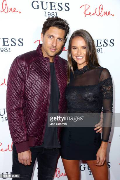 Zack Kalter and Helen Owen attend GUESS 1981 Men's Fragrance Launch hosted by RedOne at Poppy on October 26 2017 in Los Angeles California