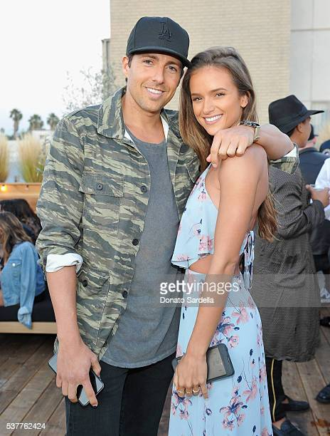 Zack Kalter and Helen Owen attend House of Harlow 1960 x REVOLVE on June 2, 2016 in Los Angeles, California.