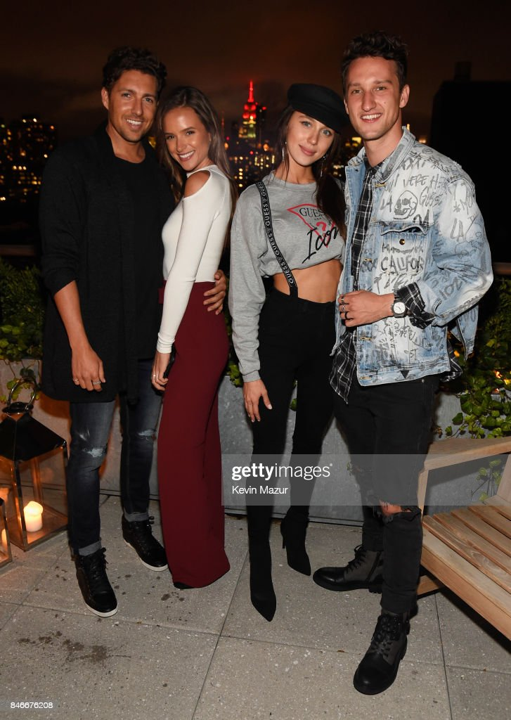 Zack Kalter, Helen Owen, Mary Leest, and Marcel Floruss attend GUESS NYFW Fall Fashion Event at Public Hotel on September 13, 2017 in New York City.