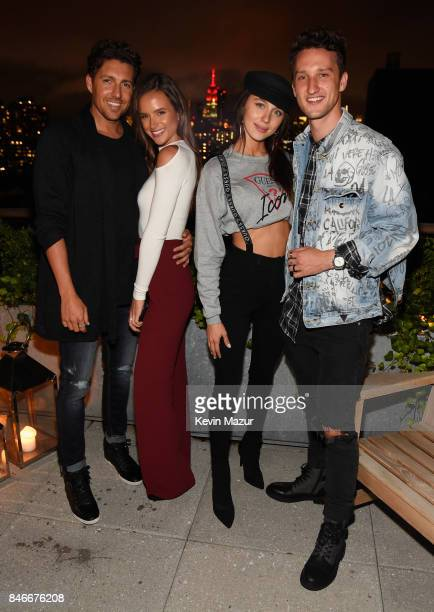 Zack Kalter Helen Owen Mary Leest and Marcel Floruss attend GUESS NYFW Fall Fashion Event at Public Hotel on September 13 2017 in New York City