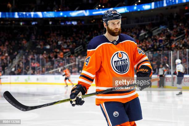 Zack Kassian of the Edmonton Oilers skates against the St Louis Blues at Rogers Place on December 21 2017 in Edmonton Canada