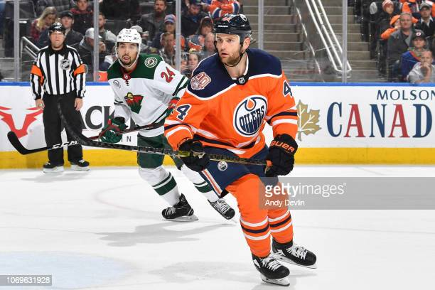 Zack Kassian of the Edmonton Oilers skates during the game against the Minnesota Wild on December 7 2018 at Rogers Place in Edmonton Alberta Canada