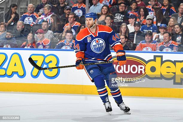 Zack Kassian of the Edmonton Oilers skates during the game against the Florida Panthers on January 18 2017 at Rogers Place in Edmonton Alberta Canada