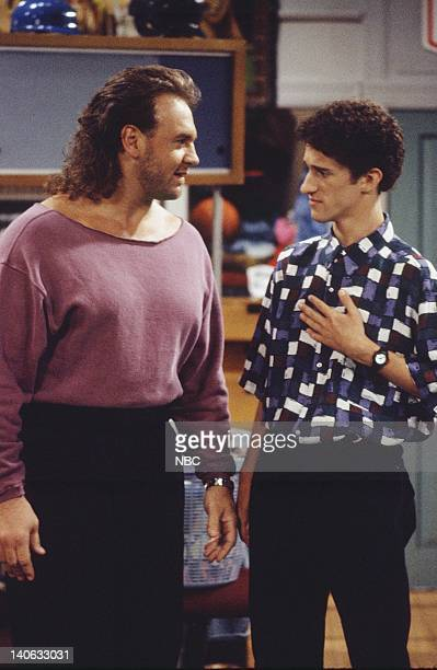 YEARS 'Zack Lies Videotape' Episode 3 Air Date Pictured Bob Golic as Michael Rogers Dustin Diamond as Screech Powers Photo by Monty Brinton/NBCU...
