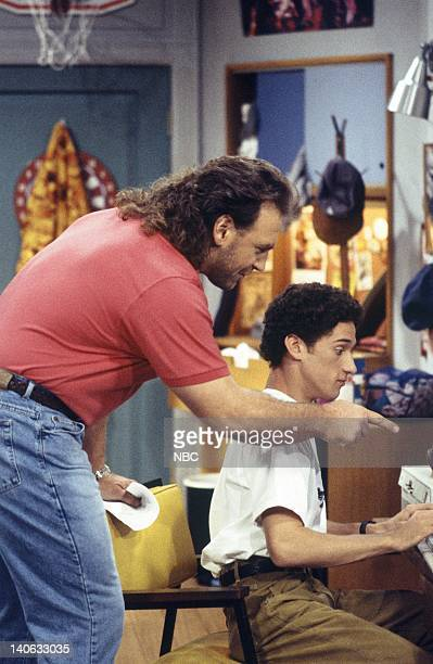 YEARS 'Zack Lies Videotape' Episode 3 Air Date Pictured Bob Golic as Michael Rogers Dustin Diamond as Screech Powers Photo by Monty Brinton/NBCU...