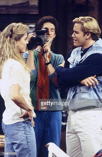 YEARS 'Zack Lies Videotape' Episode 3 Air Date Pictured Jenny Levine as Woman Dustin Diamond as Screech Powers MarkPaul Gosselaar as Zack Morris...