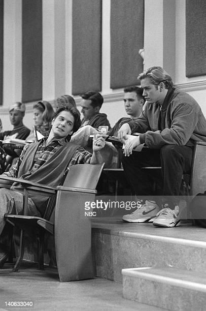 YEARS 'Zack Lies Videotape' Episode 3 Air Date Pictured Patrick Fabian as Professor Jeremiah Lasky MarkPaul Gosselaar as Zack Morris Photo by Monty...