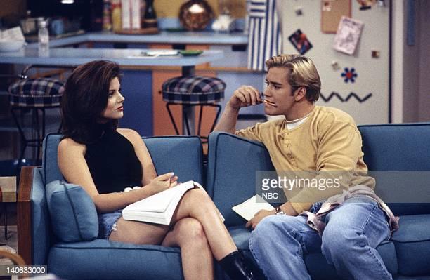 YEARS 'Zack Lies Videotape' Episode 3 Air Date Pictured Tiffani Thiessen as Kelly Kapowski MarkPaul Gosselaar as Zack Morris Photo by Monty...