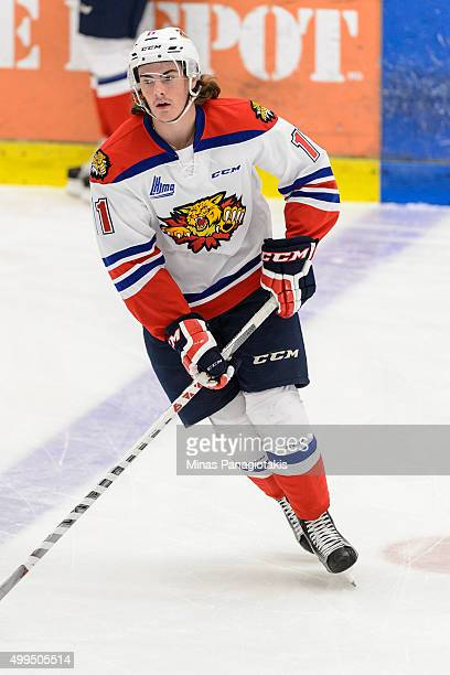 Zack Macewen of the Moncton Wildcats skates during the warmup prior to the QMJHL game against the Blainville-Boisbriand Armada at the Centre...
