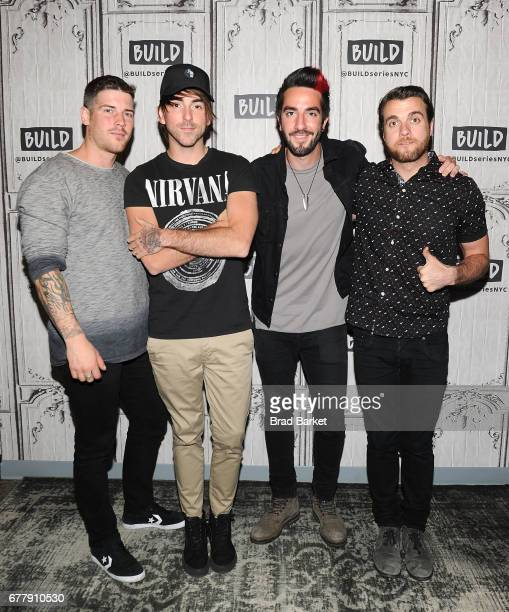 Zack Merrick Alex Gaskarth Jack Barakat and Rian Dawson of the music group All Time Low attends Build presents All Time Low discussing their new...