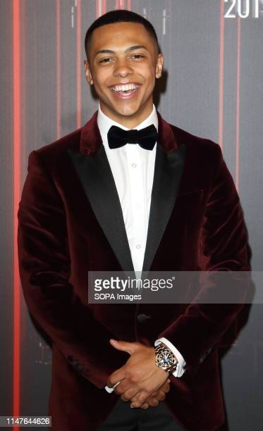 Zack Morris arrives on the red carpet during The British Soap Awards 2019 at The Lowry Media City Salford in Manchester