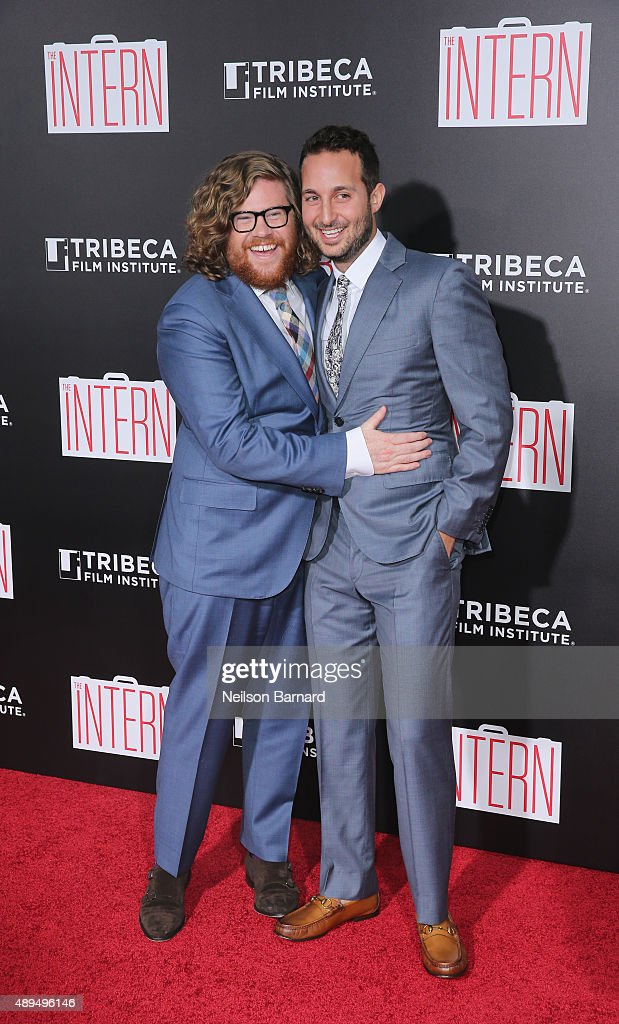 Zack Pearlman and Jason Orley attend 'The Intern' New York Premiere at Ziegfeld Theater on September 21, 2015 in New York City.