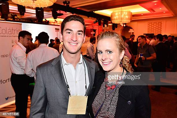 Zack Porter and Nicole Waiss attend the 2014 Kairos Global Summit at RitzCarlton Laguna Nigel on October 18 2014 in Dana Point California