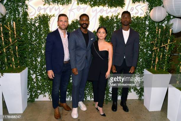 Zack Robidas Jovan Adepo Kelly Marie Tran and Mamoudou Athie attend the Sorry For Your Loss season 2 premiere event at NeueHouse Los Angeles on...