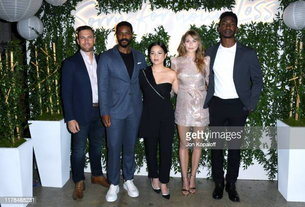 Zack Robidas Jovan Adepo Kelly Marie Tran Elizabeth Olsen and Mamoudou Athie attend the Sorry For Your Loss season 2 premiere event at NeueHouse Los...