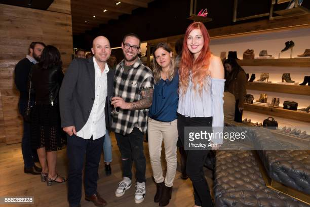 Zack Small Sebastian Arden Kristin Lamping and guest attend Sam Edelman Beverly Hills Event on December 7 2017 in Beverly Hills California