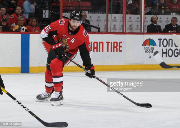 Zack Smith of the Ottawa Senators skates against the Boston Bruins at Canadian Tire Centre on December 9 2018 in Ottawa Ontario Canada