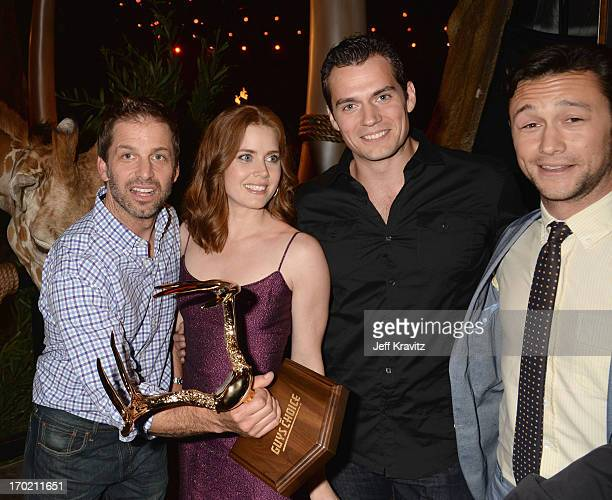 Zack Snyder Amy Adams Henry Cavill and Joseph GordonLevitt attend Spike TV's Guys Choice 2013 at Sony Pictures Studios on June 8 2013 in Culver City...