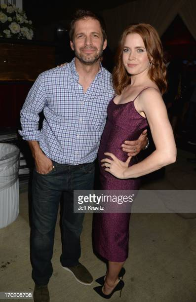 """Zack Snyder and Amy Adams attend Spike TV's """"Guys Choice 2013"""" at Sony Pictures Studios on June 8, 2013 in Culver City, California."""