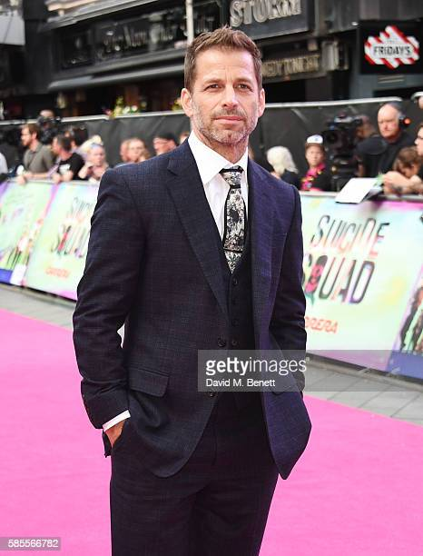 """Zack Snyder attends the European Premiere of """"Suicide Squad"""" at Odeon Leicester Square on August 3, 2016 in London, England."""